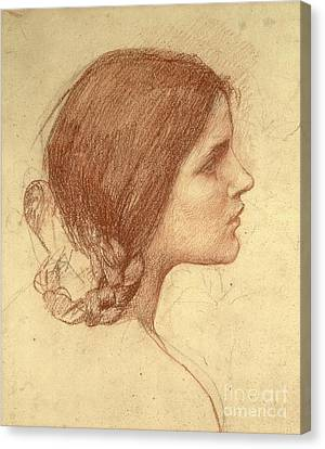 Waterhouse Canvas Print - Head Of A Girl by John William Waterhouse