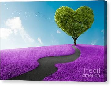 Heart Tree Canvas Print by Giordano Aita