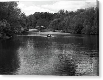 Heaton Park Boating Lake Canvas Print by Doc Braham