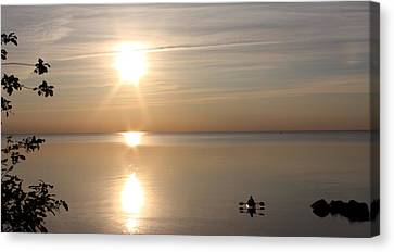 Canvas Print featuring the photograph Heavenly Kayak by Pat Purdy