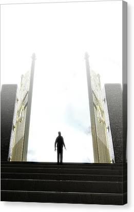 Heavens Gates And Silhouette Canvas Print
