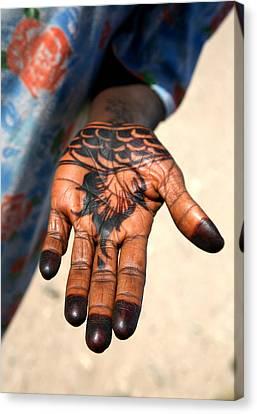 Henna Hand Canvas Print
