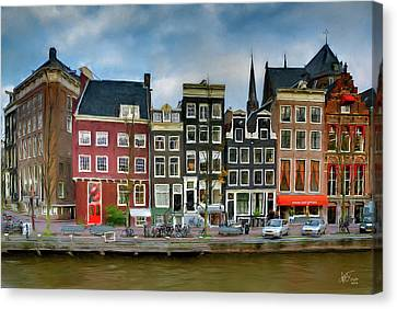 Canvas Print featuring the photograph Herengracht 411. Amsterdam by Juan Carlos Ferro Duque