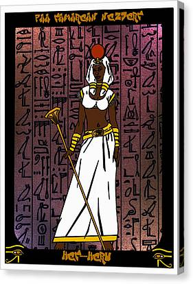 Hathor Canvas Print - Het-heru by Derrick Colter