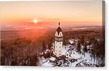 Heublein Tower In Simsbury, Connecticut Canvas Print by Petr Hejl