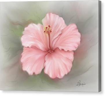 Canvas Print featuring the painting Hibiscus  by Bonnie Willis