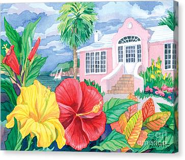 Hibiscus Cottage Canvas Print by Paul Brent