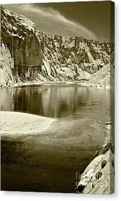 Canvas Print featuring the photograph Hidden Cove by Pete Hellmann