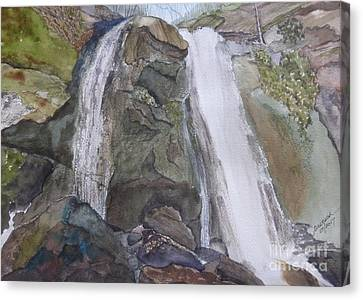 Canvas Print featuring the painting High Shoals Falls by Joel Deutsch