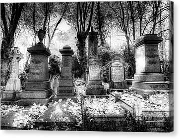 Highgate Cemetery London Canvas Print by David Pyatt