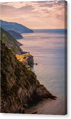 Vernazza Canvas Print - Hiking In Cinque Terre Italy II by Joan Carroll