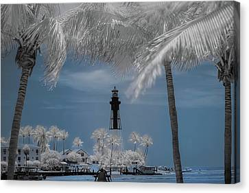 Canvas Print featuring the photograph Hillsboro Inlet Lighthouse by Louis Ferreira
