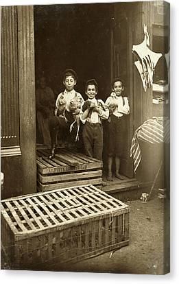 Hine: Child Labor, 1908 Canvas Print by Granger