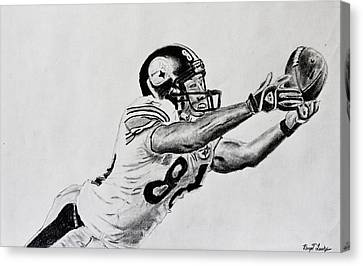 Hines Ward Diving Catch  Canvas Print by Bryant Luchs