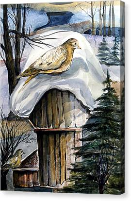 His Eye Is On The Sparrow Canvas Print by Mindy Newman