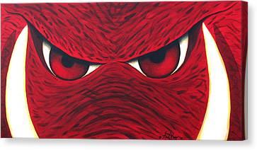 Hog Eyes 2 Canvas Print by Amy Parker