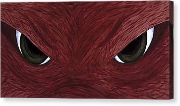Razorbacks Canvas Print - Hog Eyes by Amy Parker