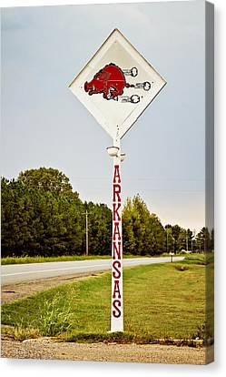Razorbacks Canvas Print - Hog Sign by Scott Pellegrin