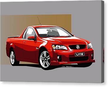 Holden Ute Canvas Print by MOTORVATE STUDIO Colin Tresadern