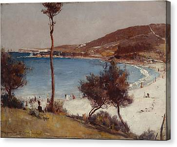 Seaside Heights Canvas Print - Holiday Sketch At Coogee  by Tom Roberts
