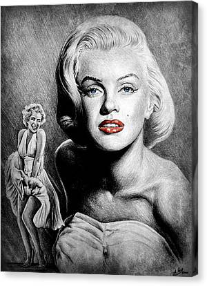 Hollywood Greats Marilyn Canvas Print by Andrew Read