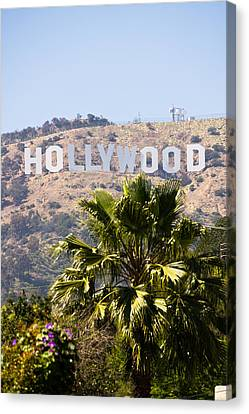 Hollywood Sign Photo Canvas Print by Paul Velgos