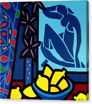 Homage To Matisse I Canvas Print by John  Nolan