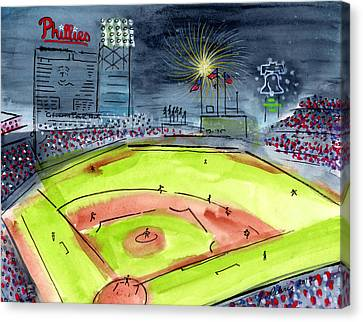 Citizens Bank Park Canvas Print - Home Of The Philadelphia Phillies by Jeanne Rehrig