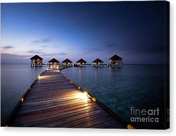 Canvas Print featuring the photograph Honeymooners Paradise by Hannes Cmarits