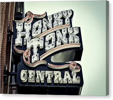 Honky Tonk Central - Nashville Canvas Print by Paul Brennan