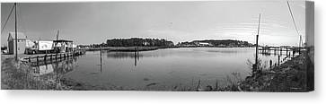 Hoopers Island Honga River - Pano Canvas Print by Brian Wallace