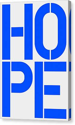 Hope Canvas Print by Three Dots