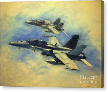F-18 Canvas Print - Hornets by Stephen Roberson