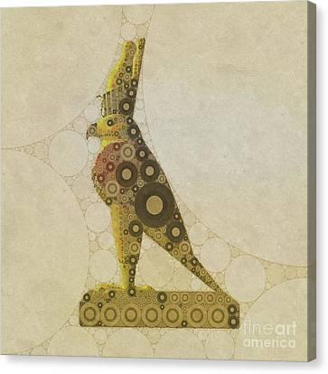 Horus Canvas Print - Horus, Egyptian God By Mary Bassett by Mary Bassett