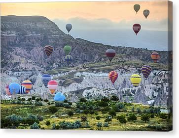 Hot Air Balloons Cappadocia Canvas Print by Joana Kruse