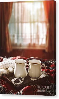 Hot Chocolate Drinks Canvas Print by Amanda Elwell