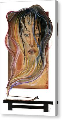 Canvas Print featuring the mixed media Hot Like Fire by Anthony Burks Sr