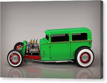 Hot Rod Sedan Canvas Print by Ken Morris