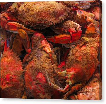 Canvas Print - Hot Steamed Crabs by Paulette Thomas
