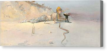 Hot Wind Canvas Print by Charles Conder