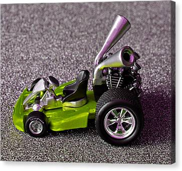 Hot Pink Custom Canvas Print - Hotwheels Go Kart Custom by Bruce Roker