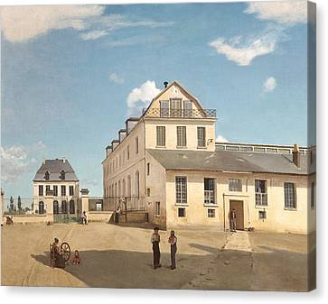 House And Factory Of Monsieur Henry Canvas Print by Jean-Baptiste-Camille Corot