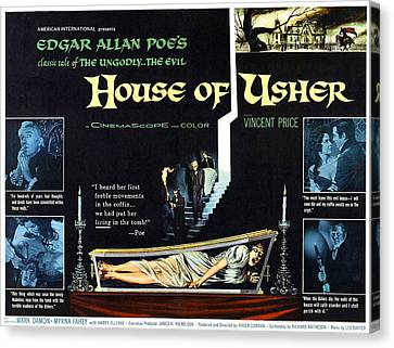 House Of Usher, Aka The Fall Of The Canvas Print