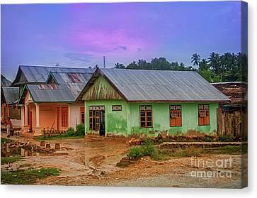 Canvas Print featuring the photograph Houses by Charuhas Images