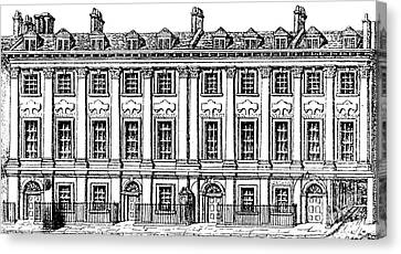 Houses Great Queen Street, 1817  Canvas Print by George the elder Scharf