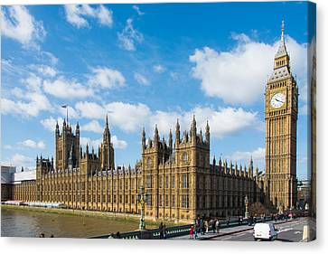 Houses Of Parliament In London Canvas Print by AMB Fine Art Photography