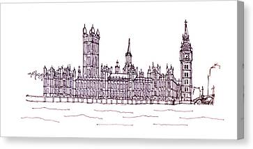 Houses Of Parliament Canvas Print by Steve Huang