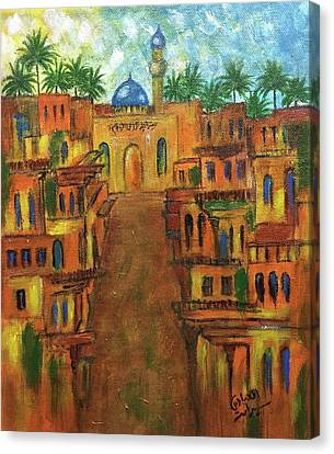 Houses Canvas Print by Siran  Ajel
