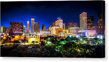 Canvas Print featuring the photograph Houston City Lights by David Morefield