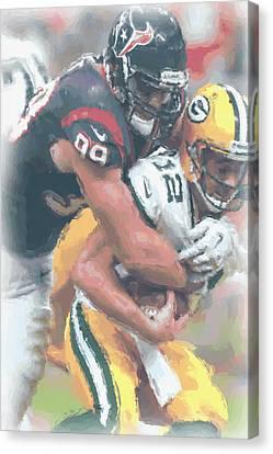 Houston Texans Jj Watt Canvas Print
